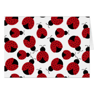 Cheery ladybug folded note card