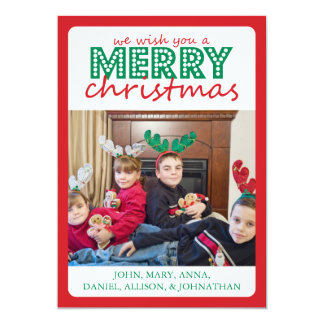 Cheery Merry Christmas Card (Red / Green)