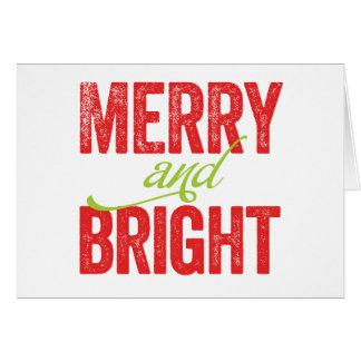 Cheery Modern Christmas Greeting Card