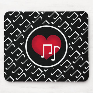 Cheery music pattern mouse pad