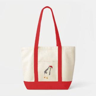 cheery penguin tote bag