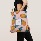 Cheery Pineapple Tote with Personalized Monogram