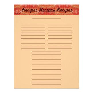 Cheery Recipe Page Letterhead Design