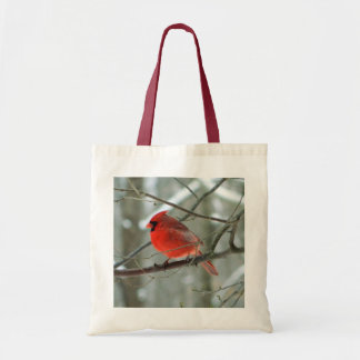 Cheery Red Cardinal Tote Bag