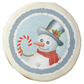 Cheery snowman cookies