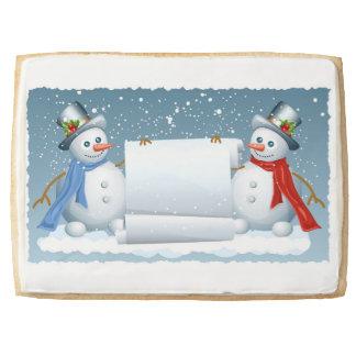 Cheery snowmen jumbo shortbread cookie