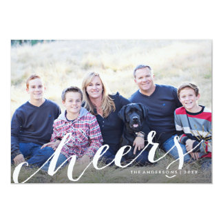 Cheery Sparkler Holiday Photo Card