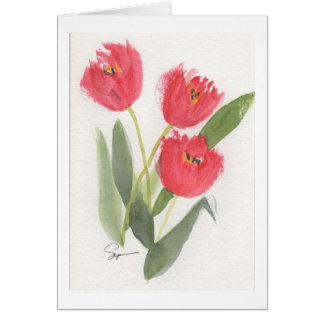 Cheery Spring Tulips Card