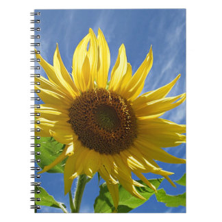 Cheery Sunflower Spiral Notebook