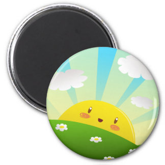 Cheery Sunrise Magnet