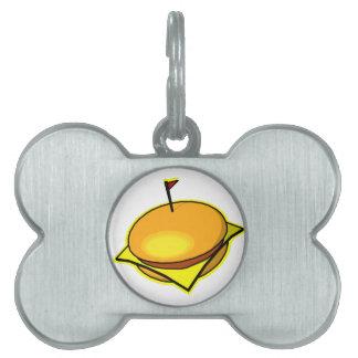 ¡Cheesburger! Placas De Mascota