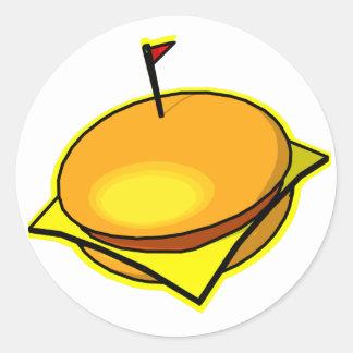 ¡Cheesburger! Pegatina Redonda