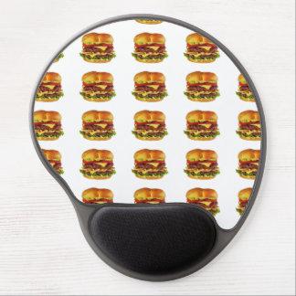 Cheesburgers grande alfombrilla de ratón con gel