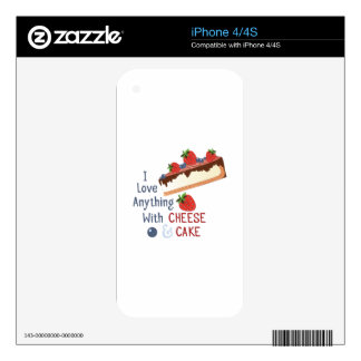Cheese And Cake Skin For iPhone 4