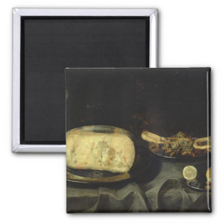 Cheese and Dry Dessert 2 Inch Square Magnet