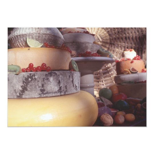 Cheese and fruit card