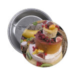 Cheese and fruit pinback button