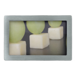 cheese and grapes rectangular belt buckle