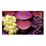 Cheese and grapes business card templates
