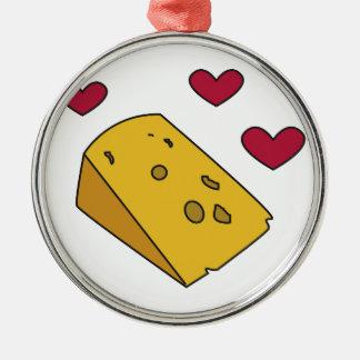 Cheese and Kisses Cockney Rhyming Slang Gift Metal Ornament