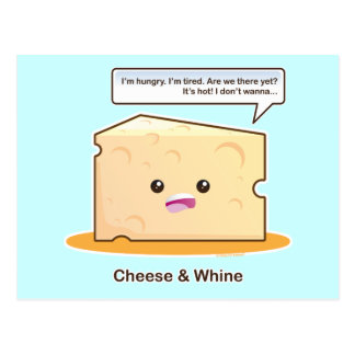 Cheese and Whine Postcard