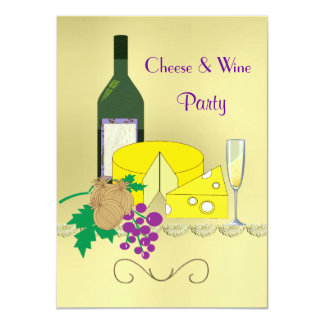 Cheese and Wine Party Personalized Announcement