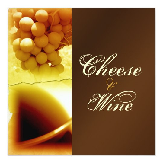 Cheese and wine stylish personalize card
