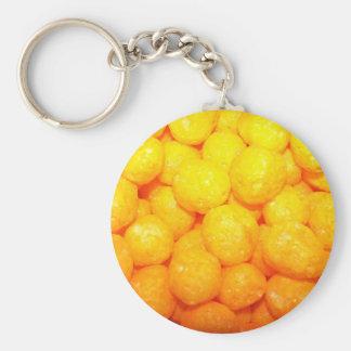 cheese balls basic round button keychain