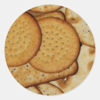 Cheese Biscuits Round Sticker