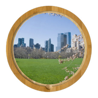 Cheese Board - Central Park in Spring, New York Round Cheeseboard
