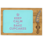 [Cupcake] keep calm and bake cupcakes  Cheese Board Rectangular Cheese Board