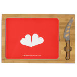 [Two hearts]  Cheese Board Rectangular Cheese Board