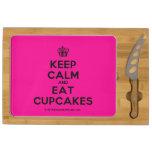 [Cupcake] keep calm and eat cupcakes  Cheese Board Rectangular Cheese Board