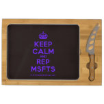 [Crown] keep calm and rep msfts  Cheese Board Rectangular Cheese Board