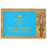 [Two hearts] don't cry coz niall horan loves you  Cheese Board Rectangular Cheese Board
