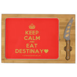 [Crown] keep calm and eat destinay♥  Cheese Board Rectangular Cheese Board