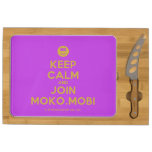 [Smile] keep calm and join moko.mobi  Cheese Board Rectangular Cheese Board