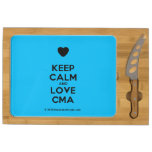 [Love heart] keep calm and love cma  Cheese Board Rectangular Cheese Board
