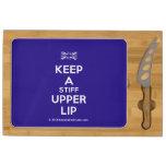 [UK Flag] keep a stiff upper lip  Cheese Board Rectangular Cheese Board