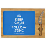 [Crown] keep calm and follow #dhc  Cheese Board Rectangular Cheese Board