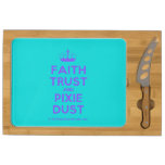 [Knitting crown] faith trust and pixie dust  Cheese Board Rectangular Cheese Board