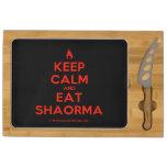 [Campfire] keep calm and eat shaorma  Cheese Board Rectangular Cheese Board