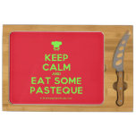 [Chef hat] keep calm and eat some pasteque  Cheese Board Rectangular Cheese Board