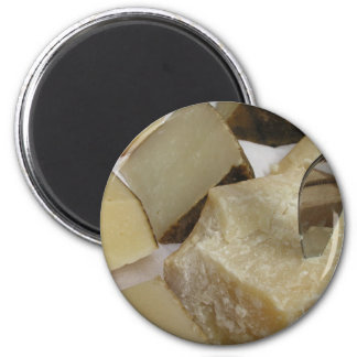 Cheese board with Parmesan 2 Inch Round Magnet