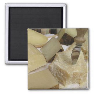 Cheese board with Parmesan 2 Inch Square Magnet