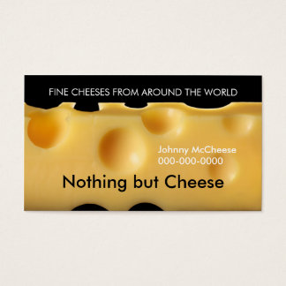 cheese business card