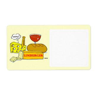 Cheese Cartoon Food Storage Funny Label