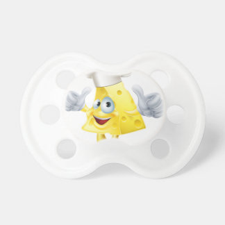 Cheese chef cartoon pacifiers