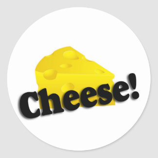 Cheese Classic Round Sticker