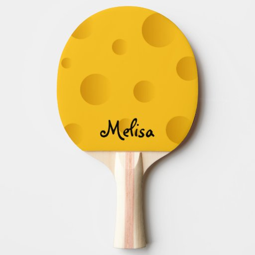 Cheese design ping pong paddle for table tennis | Zazzle